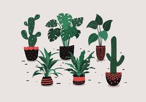 Vecteur de plante en pot