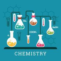 Illustration de la chimie vecteur