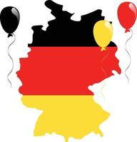 drapeau de la carte de l'Allemagne vecteur