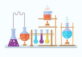 Illustration vectorielle de chimie laboratoire vecteur