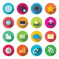 icônes plates colorées Internet. illustration vectorielle vecteur