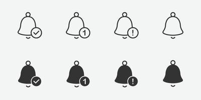 icône de cloche de notification pour votre conception vecteur