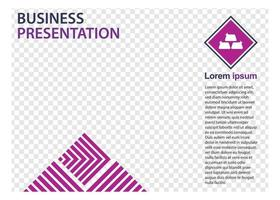 modèle de conception de présentation d'entreprise. parfait pour les brochures, la promotion marketing, les infographies, etc. vecteur