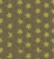 motif floral sans soudure. fond de fleur. texture transparente florale avec des fleurs. fleurir papier peint printemps jaune carrelé vecteur