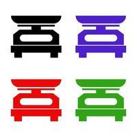 icône de balance de cuisine sur fond vecteur