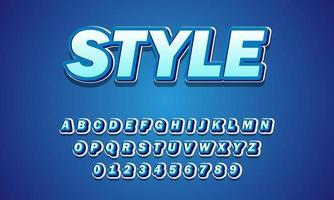alphabet de police de style vecteur