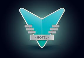Signes d'hôtel Vintage. Retro Vintage Hotel Sign.