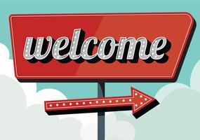 Bienvenue signe Vintage vecteur