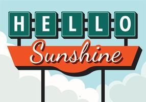 Signe Vintage Bonjour Sunshine vecteur