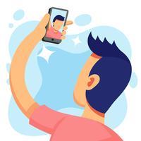 Illustration de selfie vecteur