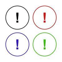 icône de signe de danger sur fond vecteur
