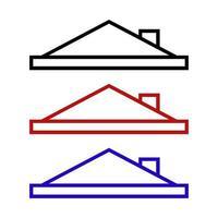 icône de toit sur fond vecteur