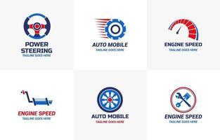 ensemble de conception de modèle de logo de voiture automobile vecteur