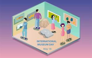 signe de la journée internationale des musées vecteur