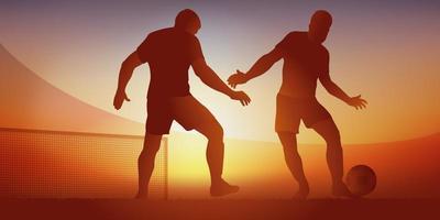 action de jeu dans un match de football vecteur