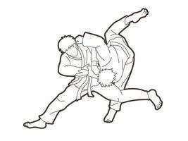 action de lancer de judo vecteur