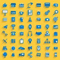 jeu d'icônes de marketing numérique vecteur