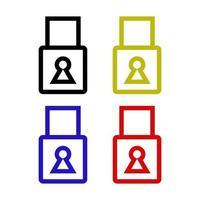 icône de cadenas sur fond vecteur