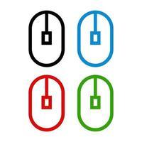 icône de la souris sur fond vecteur