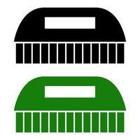 icône de peigne sur fond vecteur