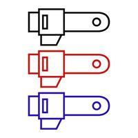 icône de scie électrique sur fond vecteur