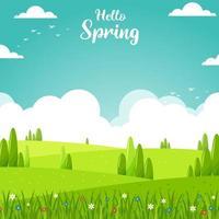 bonjour fond de printemps vecteur