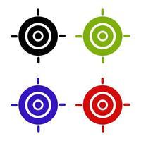 icône cible sur fond blanc vecteur