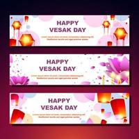 bannière de joyeux jour vesak vecteur