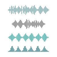 images d'ondes sonores vecteur