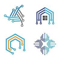 illustration d'images de logo de technologie vecteur