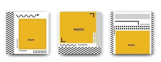 cadre carré photo. illustration vectorielle vecteur