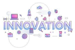 innovation mot entreprise vecteur