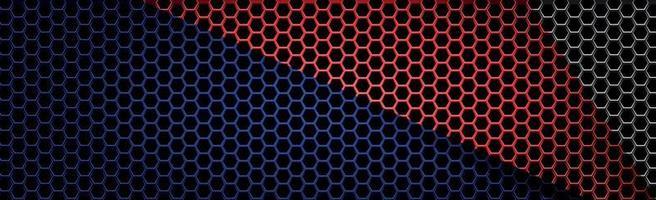 fer perforé multicolore avec des reflets blancs vecteur