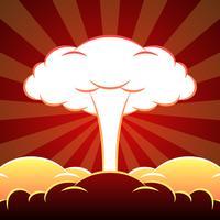 Illustration de l'explosion nucléaire vecteur