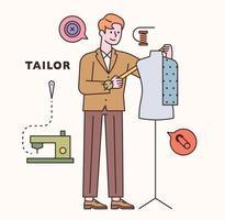 jeu de caractères et d'icônes sur mesure. illustration vectorielle minimale de style design plat. vecteur