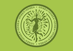 badge du zodiaque virgo vecteur