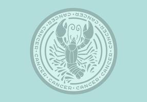 badge du zodiaque du cancer vecteur