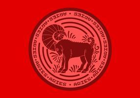 Insigne du zodiaque Bélier vecteur