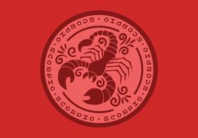 insigne du zodiaque scorpion vecteur