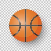 basket-ball isolé sur fond vecteur