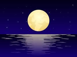Vecteurs de plage belle nuit vecteur