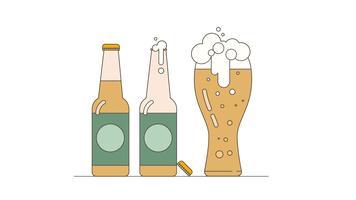 Vecteur de bière