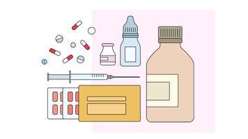 Vecteur de médicaments de pharmacie