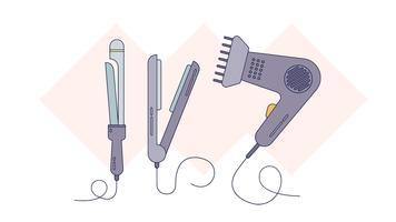 Styliser le vecteur de cheveux