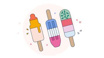 Vecteur de crème glacée triple