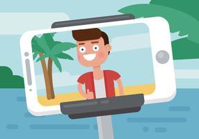 Homme prenant une Illustration de Selfie vecteur