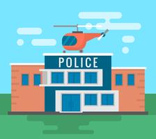 Poste de police vecteur