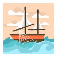 Bateau de pêche vecteur