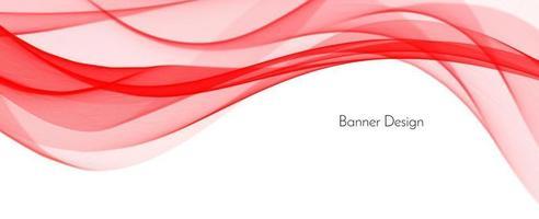 fond de bannière abstrait vague élégante décorative moderne rouge vecteur