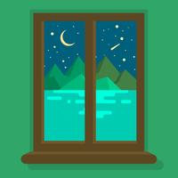 Vue de la fenêtre vecteur